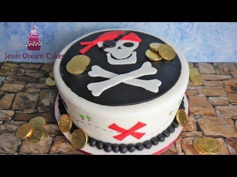 Einfache Piraten Torte Fur Anfanger Kindergeburtstagstorte Pirates