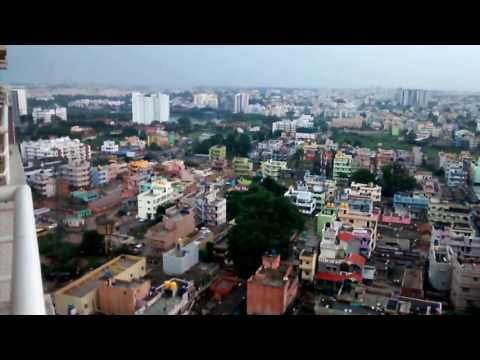 Beautiful Landscape | Top view of Bangalore City in HD