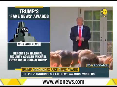 Trump announces fake news award