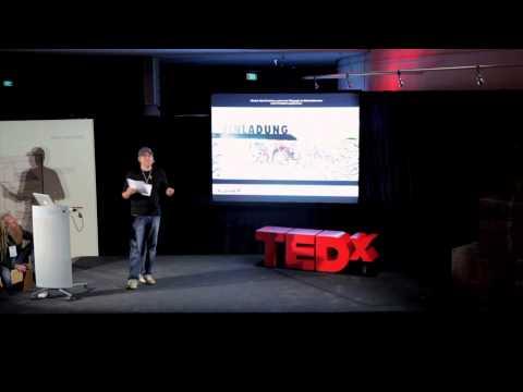 """Ein Medium für die, die sonst keines haben: Helge """"Bomber"""" Steinmann at TEDxRheinMain"""