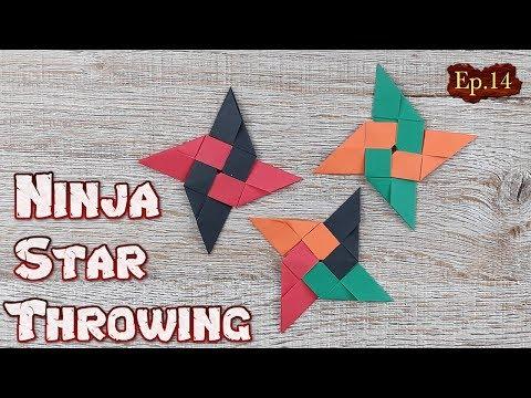Origami Throwing Ninja Star   How To Making a Ninja Weapon Tutorial   DIY Paper Blade Shuriken Ep.14