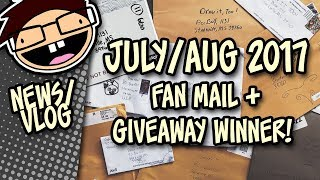 July / August Fan Mail + Giveaway Winners Announcement! | Draw it Too Vlog