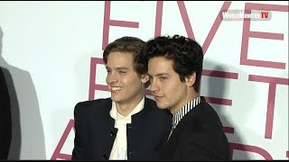Dylan Sprouse  and Cole Sprouse Having fun at 'Five Feet Apart' LA Film Premiere