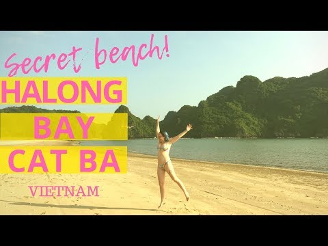 SECRET! HALONG BAY BEACH   Cat Ba Island   Vietnam