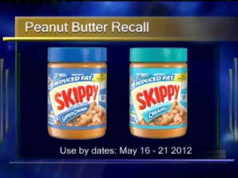 11030702Skippy Reduced Fat Peanut Butter RECALL