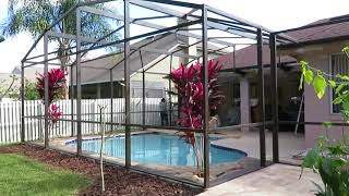 Pool screen enclosure painting company in Orlando Fl