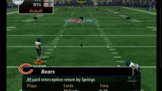 Madden 2005 Gameplay -- Bears @ Giants, Part 1