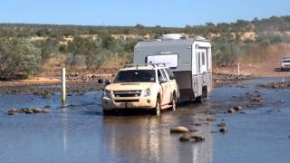 "Van Cruiser ""Sahara"" #Caravan Crossing the Pentecost River  #westernaustralia"