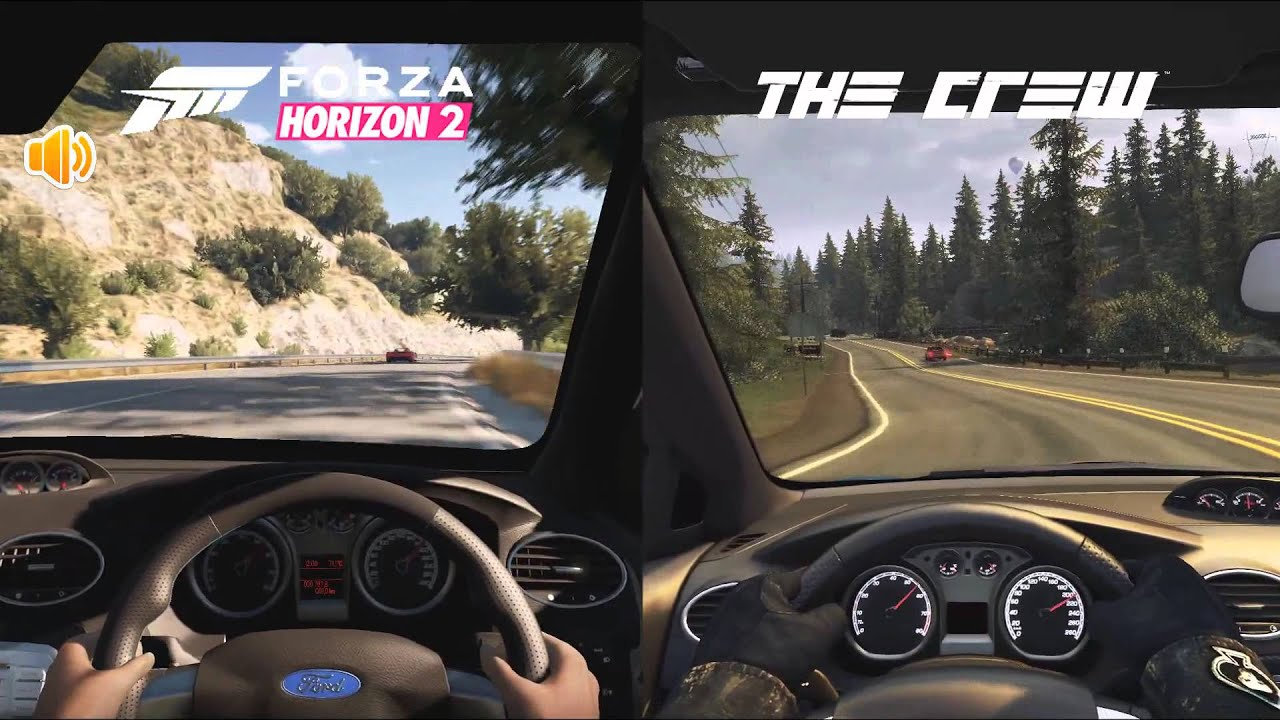 Forza Horizon 2 Vs The Crew Ford Focus Rs Youtube