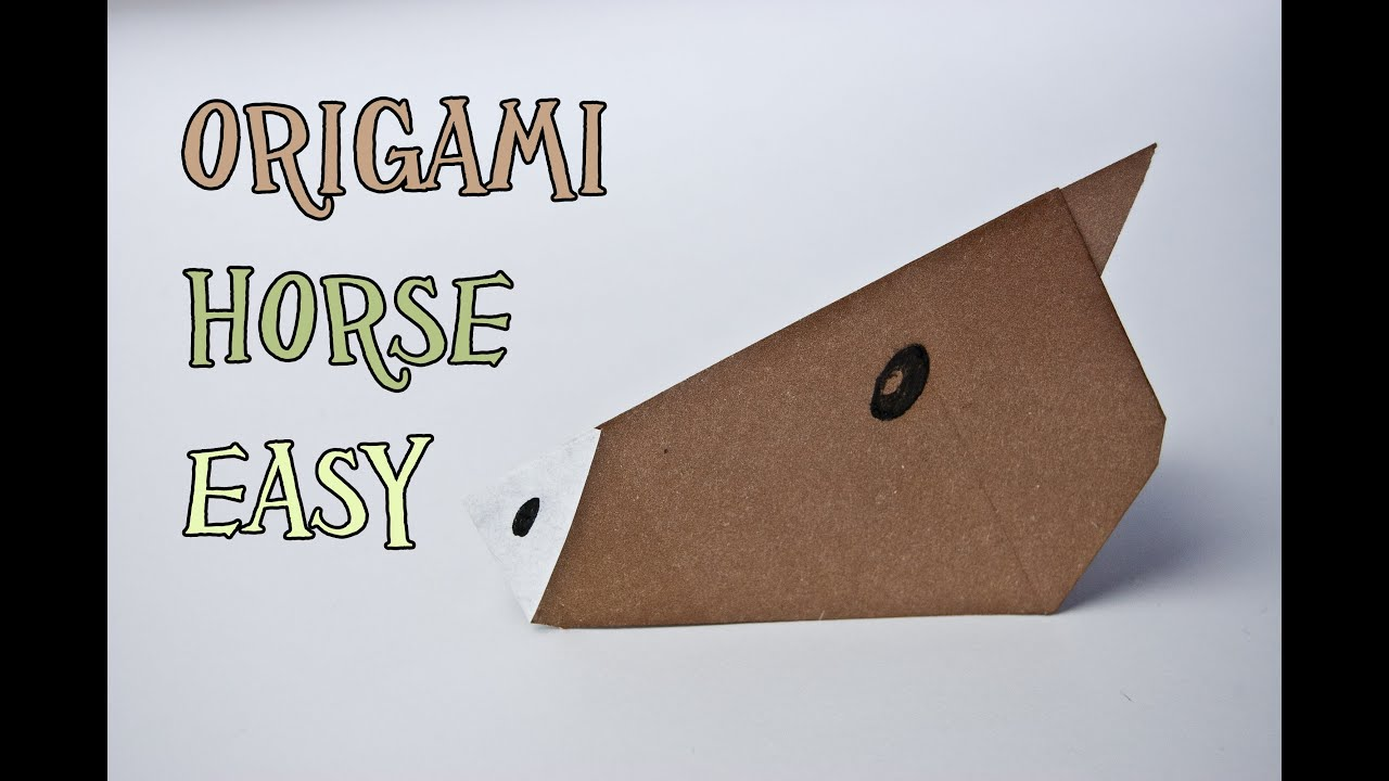 How To Make An Origami Horse Face Very Easy