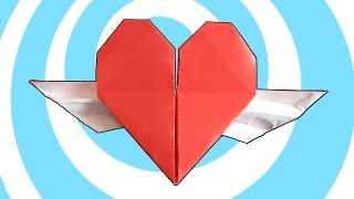 Origami Heart With Wings Instructions