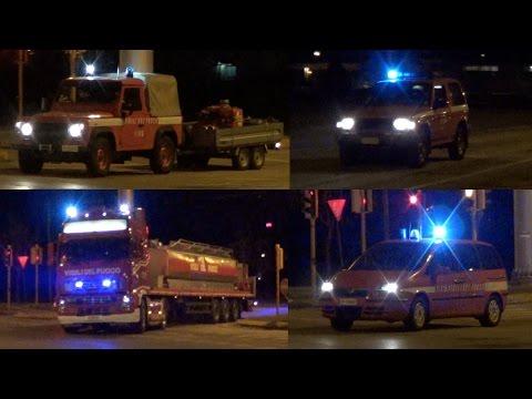Kilolitrica, Pajero, Defender 90, Ulysse VVF Treviso Incendio Centro Commerciale Parco Stella Oderzo