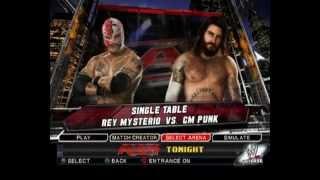 WWE SvR 2011 PS2 Mysterio Vs Punk Tables Match