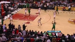 Reverse Dunk Derrick Rose 4/13 vs Boston Celtics
