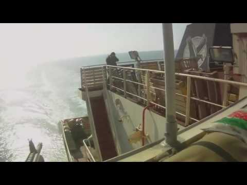 Ship's Private Security Guards Vs Somali Pirates direct fire by Security Guards