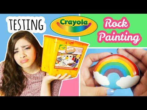 """Testing Crayola """"Rock Painting"""" Kit 