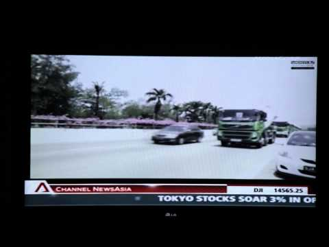 Cement truck convoy video in CNA