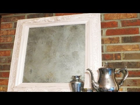 Upcycle Up Cyclean old painting to a Vintage mirror
