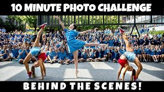 BTS with JORDAN MATTER for the 10 minute photo challenge!   The Rybka Twins