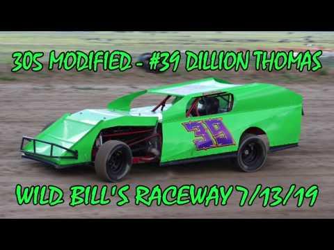In Car - 305 Modified - #39 Dillion Thomas - Wild Bill's Raceway 7/13/19