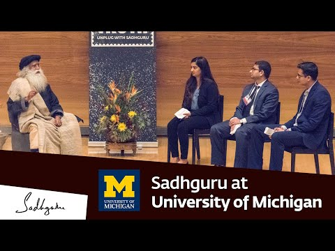 Sadhguru at University of Michigan Ross Business School – Youth and Truth Feb 15 2019