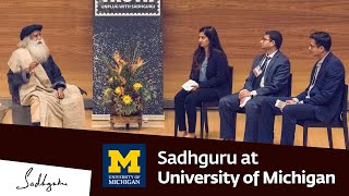 Sadhguru at University of Michigan, Ross Business School - Youth and Truth, Feb 15, 2019
