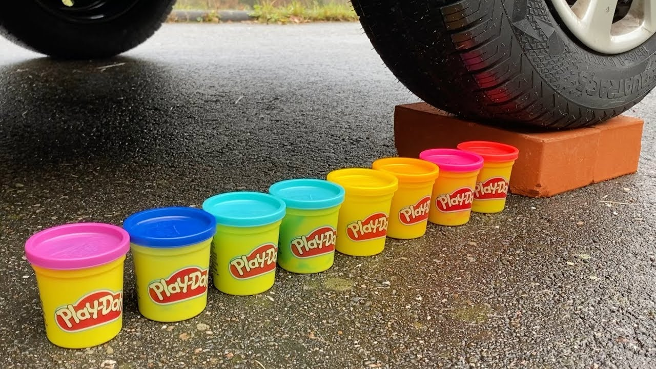Download EXPERIMENT: CAR VS PLAY DOH - Crushing Crunchy & Soft Things by Car!