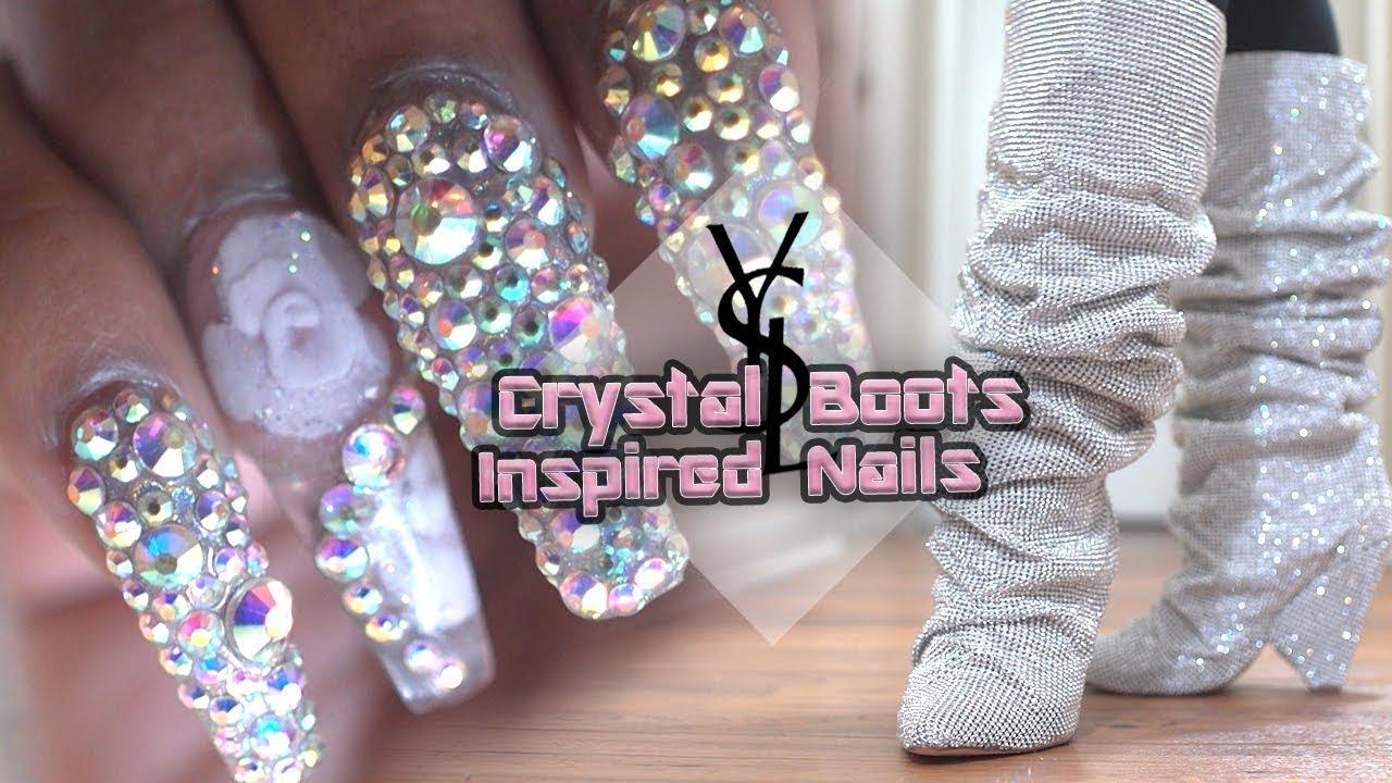 acrylic nails 10 000 ysl crystal