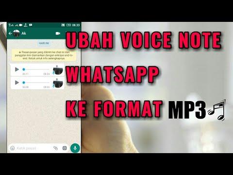 Cara Merubah Voice Note Pada Whatsapp Menjadi Mp3 Youtube