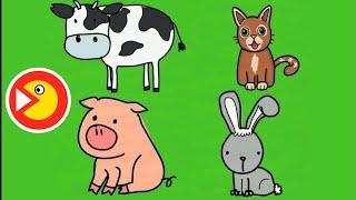 Рисуем домашних животных - Развивающий мультик | Зяба-Зяба