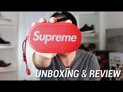 SUPREME X B&O PLAY P2 WIRELESS SPEAKER UNBOXING & REVIEW