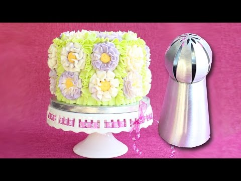 Russian Ball Tip on a cake - How to use Russian Ball Tips