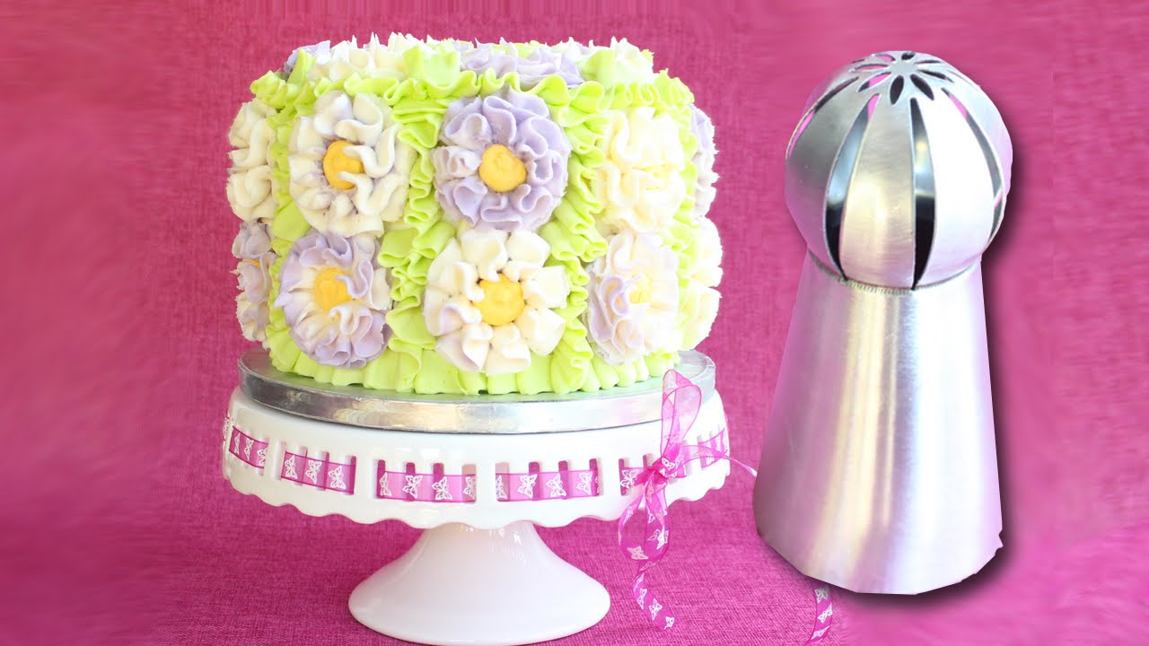 Russian Ball Tip On A Cake How To Use Russian Ball Tips Youtube