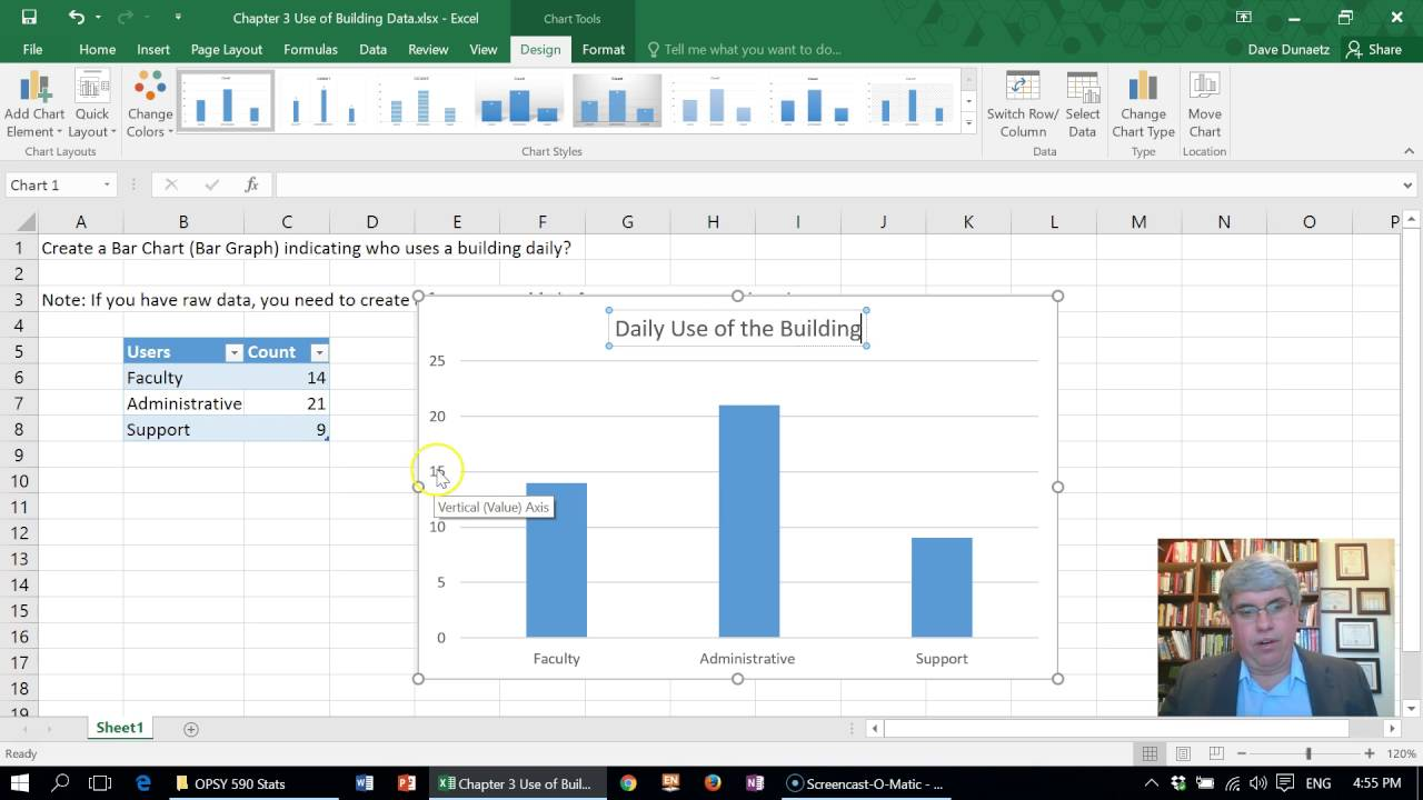 How to Make a Bar Chart (Bar Graph) in Excel 2016 for Windows ...