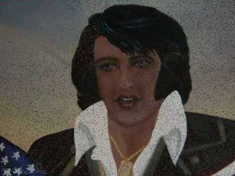 Elvis Presley 75 years portrait of The King made by Angela Fransen