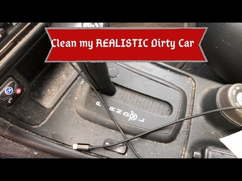 Clean my REALISTIC Dirty CAR with me!!! Clean my car INTERIOR!!!