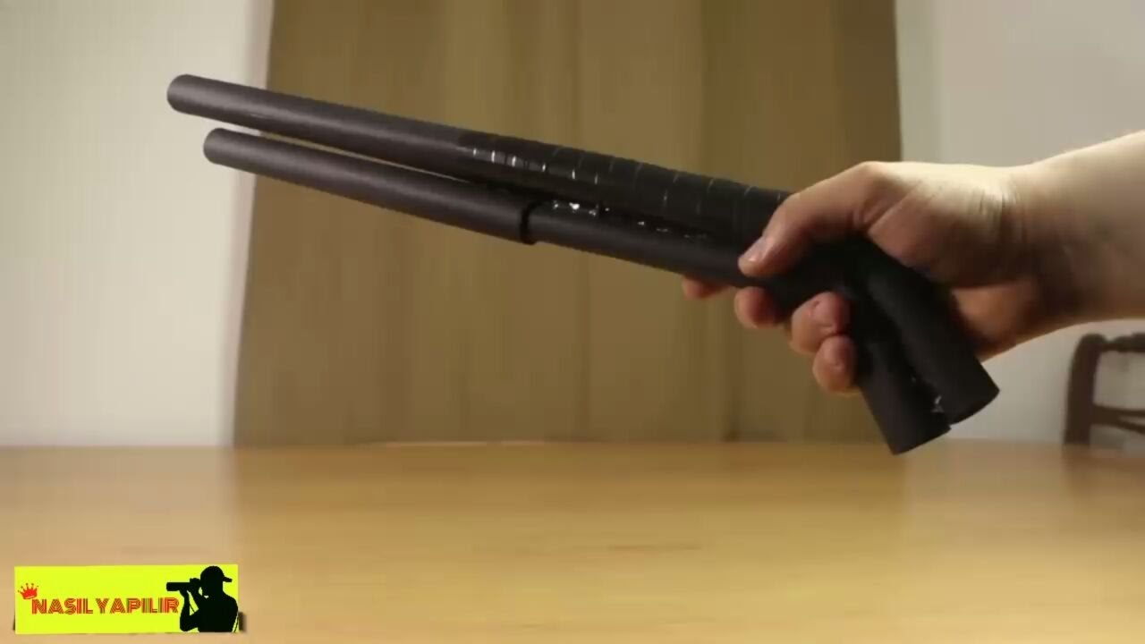 how to make a shotgun with paper