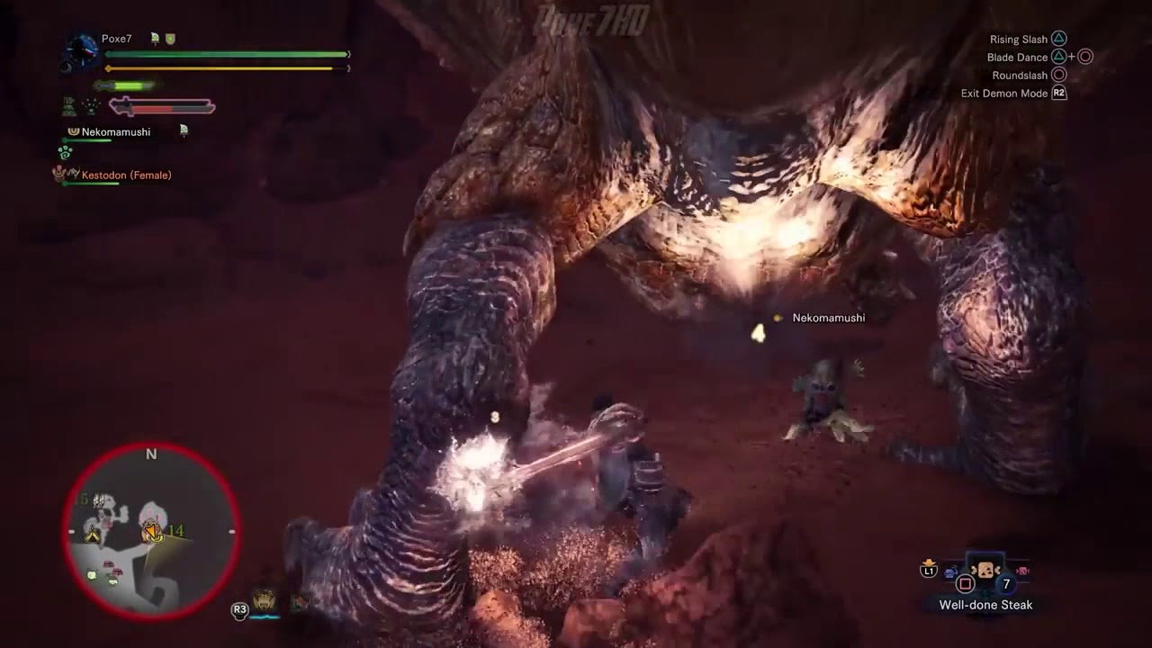 MHW power leveling dual blades gameplay
