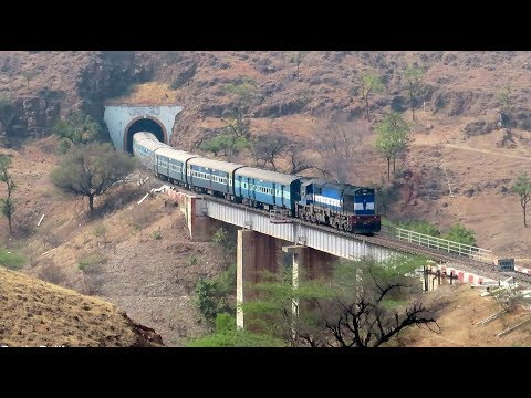 MAGNIFICENT INDIAN RAILWAYS : Train Through Beautiful Shindawane Ghat : Pune Kolhapur Passenger