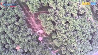 Belgrad Ormanlarında Enerji Nakil Hattı üstünde uçuş ve Ormandaki İzdüşümü