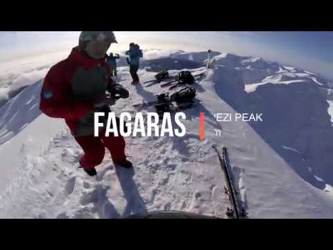 Fagaras mountains Lespezi peak backcountry and freeride skiing