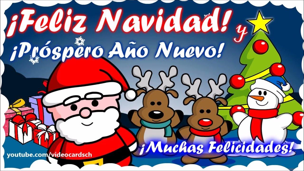 Tarjetas navide as animadas mensajes navide os santa - Dibujos para postales navidenas ...