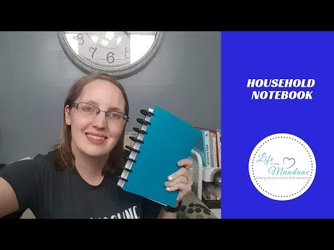 HOUSEHOLD NOTEBOOK-Why you need it & how to create your own