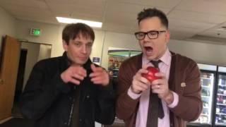 Chris Kattan teaches me how to eat an apple like Mr. Peepers