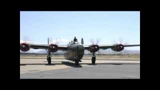 "The Consolidated B-24J Liberator ""Witchcraft"" landing at Livermore Municipal"