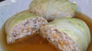 【hd】 Healthy Tofu Cabbage Rolls 豆腐ロールキャベツ