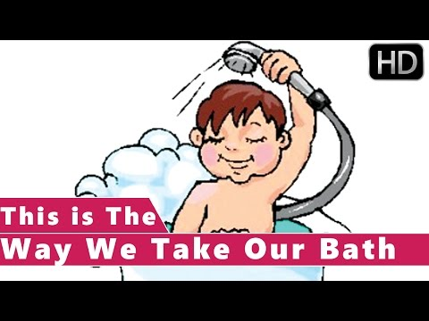This is the Way We Take Our Bath | Animation Nursery Rhymes for Kids