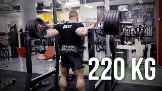 BIG MAJK: 220kg przysiad i pomiary uda i łydki  - KFD
