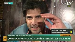 Juan Darthes volvió al país tras vivir seis meses en San Pablo | +INFO por LN+