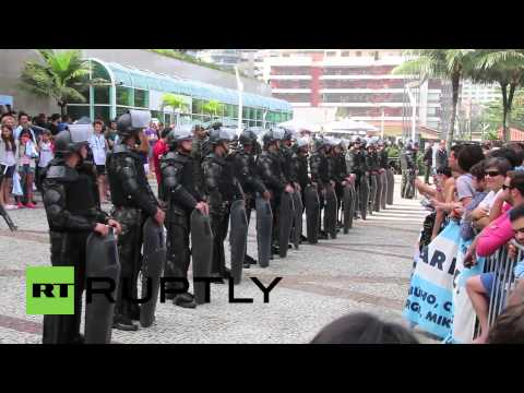 Brazil: Argentine WC team arrive to hero's welcome